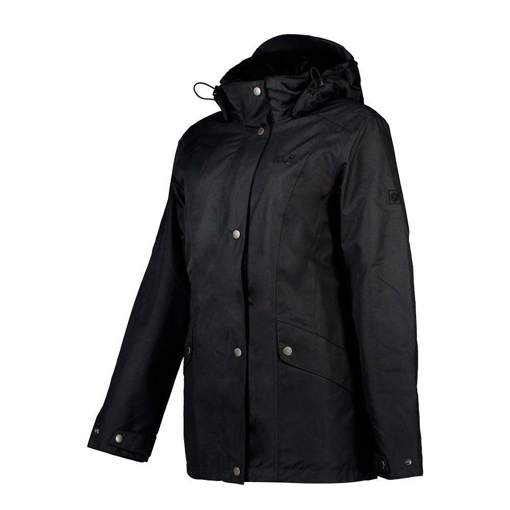 Jack Wolfskin Avenue Parka Jacket XS Black