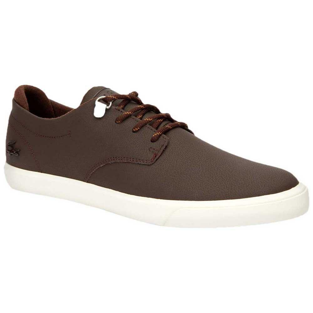 Lacoste Esparre Leather EU 47 Dark Brown / Off White