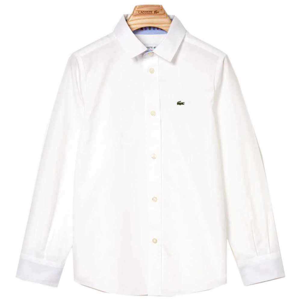 Lacoste Contrast Finishes Oxford Cotton 16 Years White
