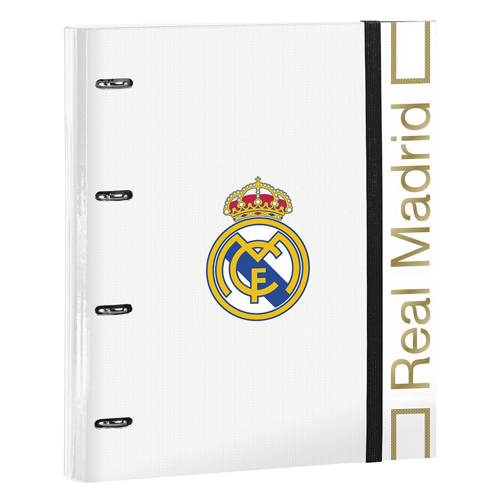 Safta Real Madrid Home 19/20 A4 4 Rings One Size White / Black