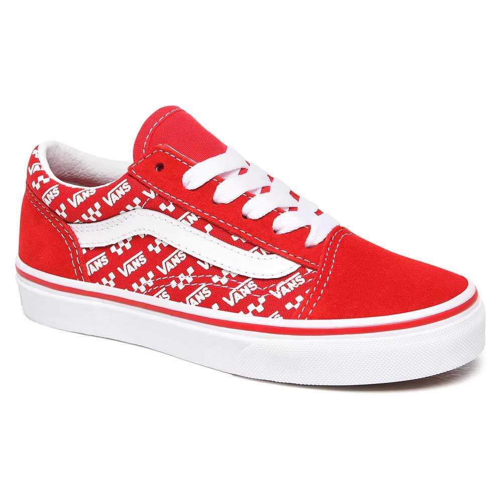 chaussures vans enfant rouge