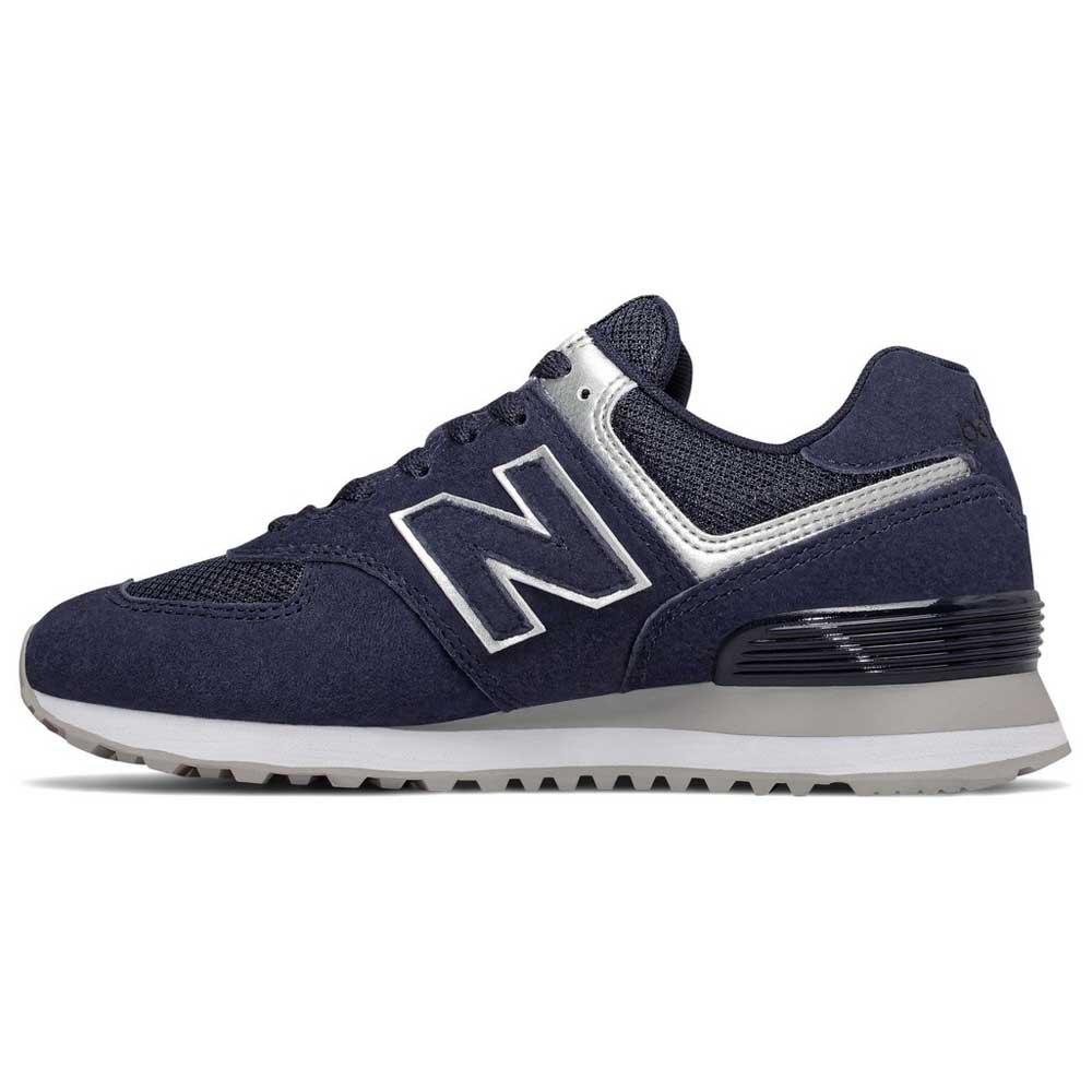 New-Balance-574-V2-Classic-Blu-T93564-Sneakers-Donna-Blu-Sneakers-New-balance miniatura 7