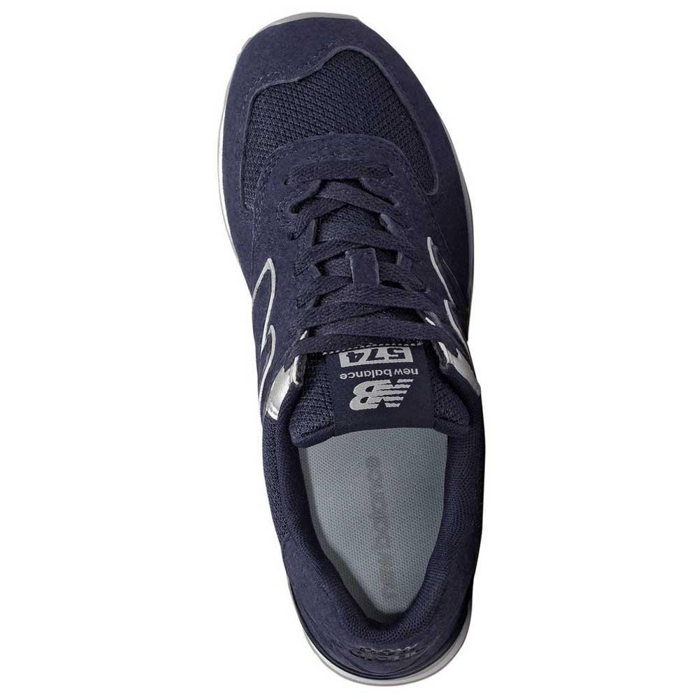 New-Balance-574-V2-Classic-Blu-T93564-Sneakers-Donna-Blu-Sneakers-New-balance miniatura 8