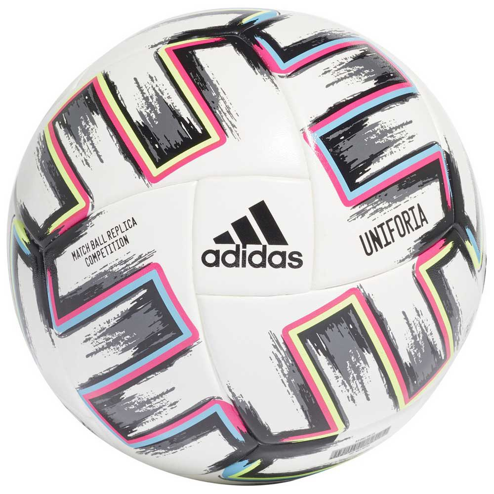 Adidas Uniforia Competition Uefa Euro 2020 Football Ball 4 White / Black / Signal Green / Bruight cyan