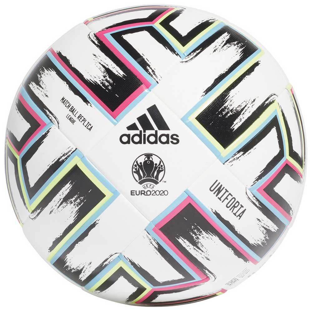 Adidas Uniforia League Uefa Euro 2020 Football Ball 5 White / Black / Signal Green / Bright Cyan