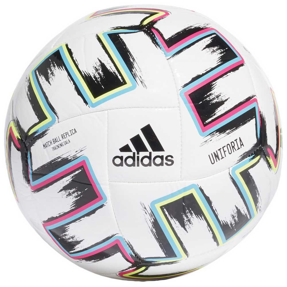 Adidas Uniforia Training Sala Uefa Euro 2020 Indoor Football Ball Futsal White / Black / Signal Green / Bright Cyan