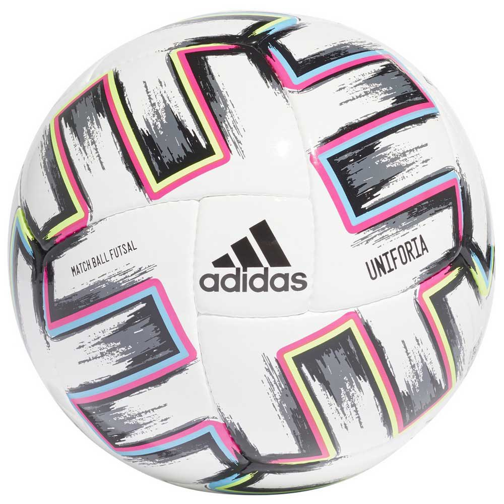 Adidas Uniforia Pro Sala Uefa Euro 2020 Indoor Football Ball Futsal White / Black / Signal Green / Bright Cyan