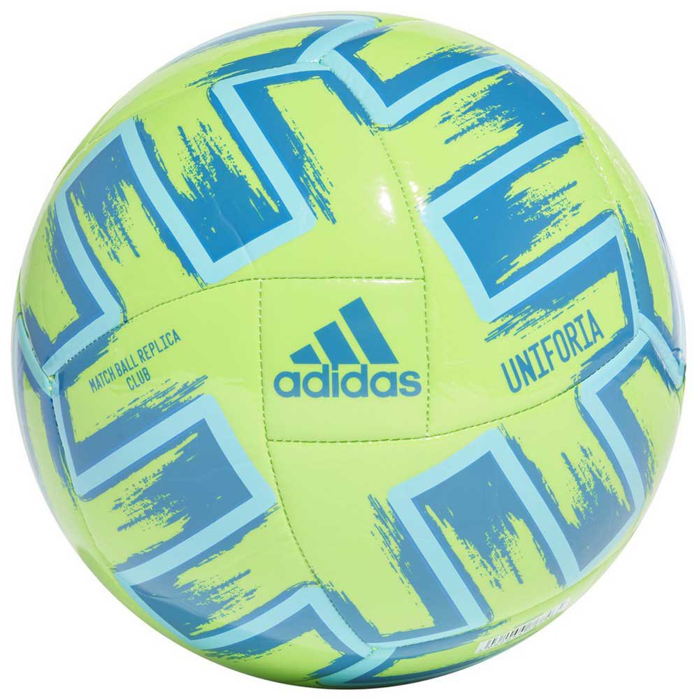 Adidas Uniforia Club Uefa Euro 2020 Football Ball 5 Signal Green / Bright Cyan / Glory Blue