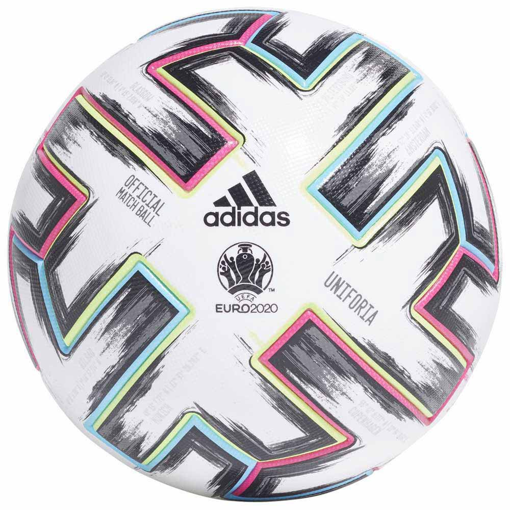 Adidas Uniforia Pro Uefa Euro 2020 Football Ball 5 White / Black / Signal Green / Bright Cyan