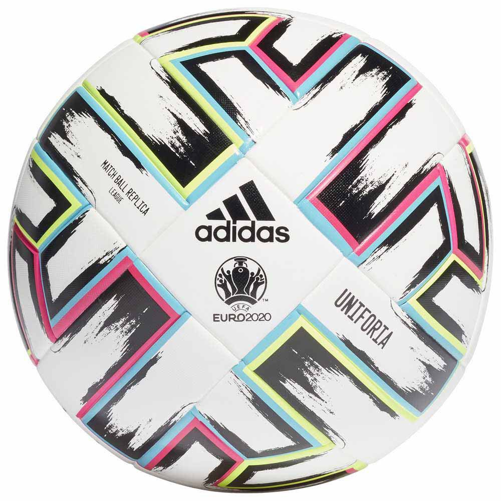 Adidas Uniforia League Box Uefa Euro 2020 Football Ball 4 White / Black / Signal Green / Bright Cyan