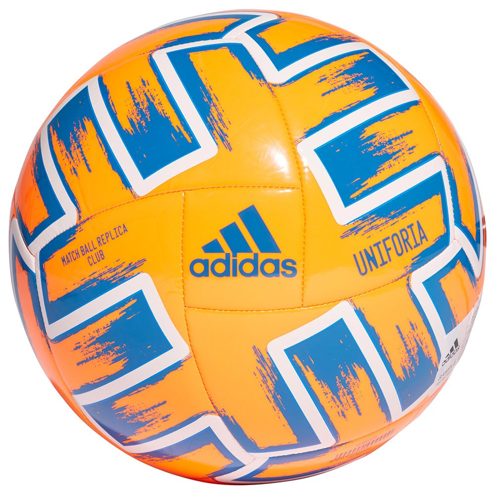 Adidas Uniforia Club Uefa Euro 2020 Football Ball 4 Solar Orange / Glory Blue / White