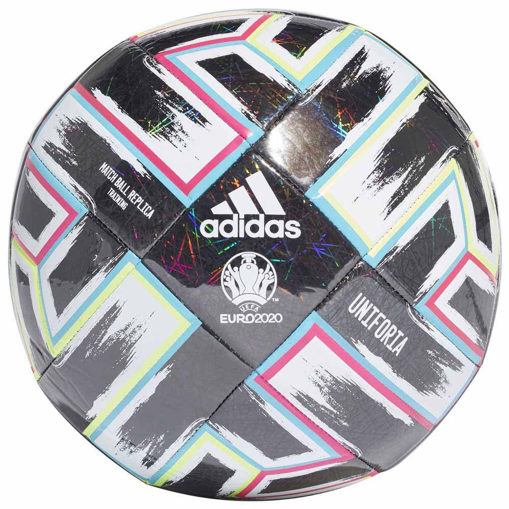 Adidas Uniforia Training Uefa Euro 2020 Football Ball 5 Black / Signal Green / Bright Cyan / Shock Pink