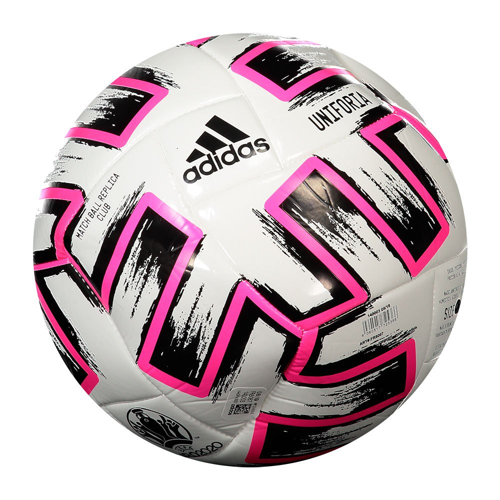 Adidas Uniforia Club Uefa Euro 2020 Football Ball 5 White / Black / Shock Pink
