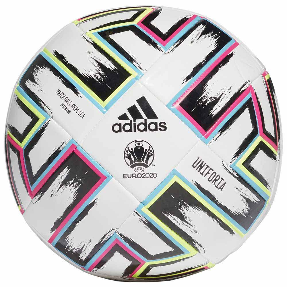 Adidas Uniforia Training Uefa Euro 2020 Football Ball 5 White / Black / Signal Green / Bright Cyan