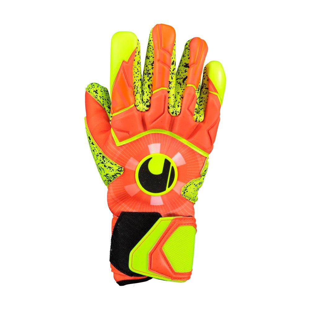 Uhlsport Gants Gardien Dynamic Impulse Supergrip Finger Surround 7 Dynamic Orange / Fluo Yellow