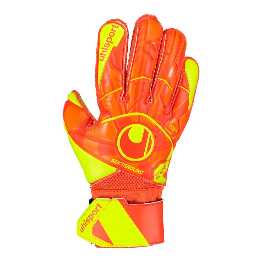 Uhlsport Gants Gardien Dynamic Impulse Soft Flex Frame 4 Dynamic Orange / Fluo Yellow