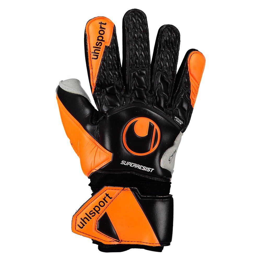 Uhlsport Gants Gardien Super Resist Half Negative 3 Black / Fluo Orange / White