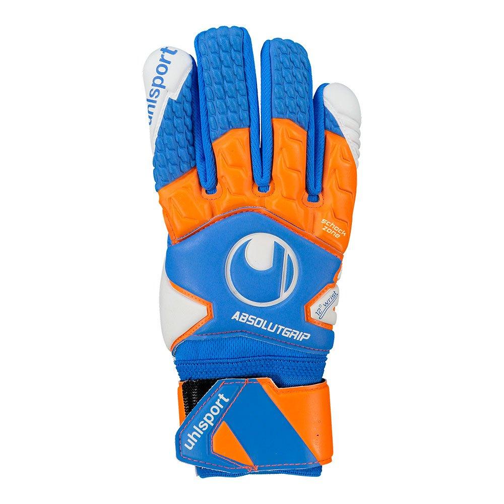 Uhlsport Absolutgrip Half Negative Junior 3 Cyan / Fluo Orange / White