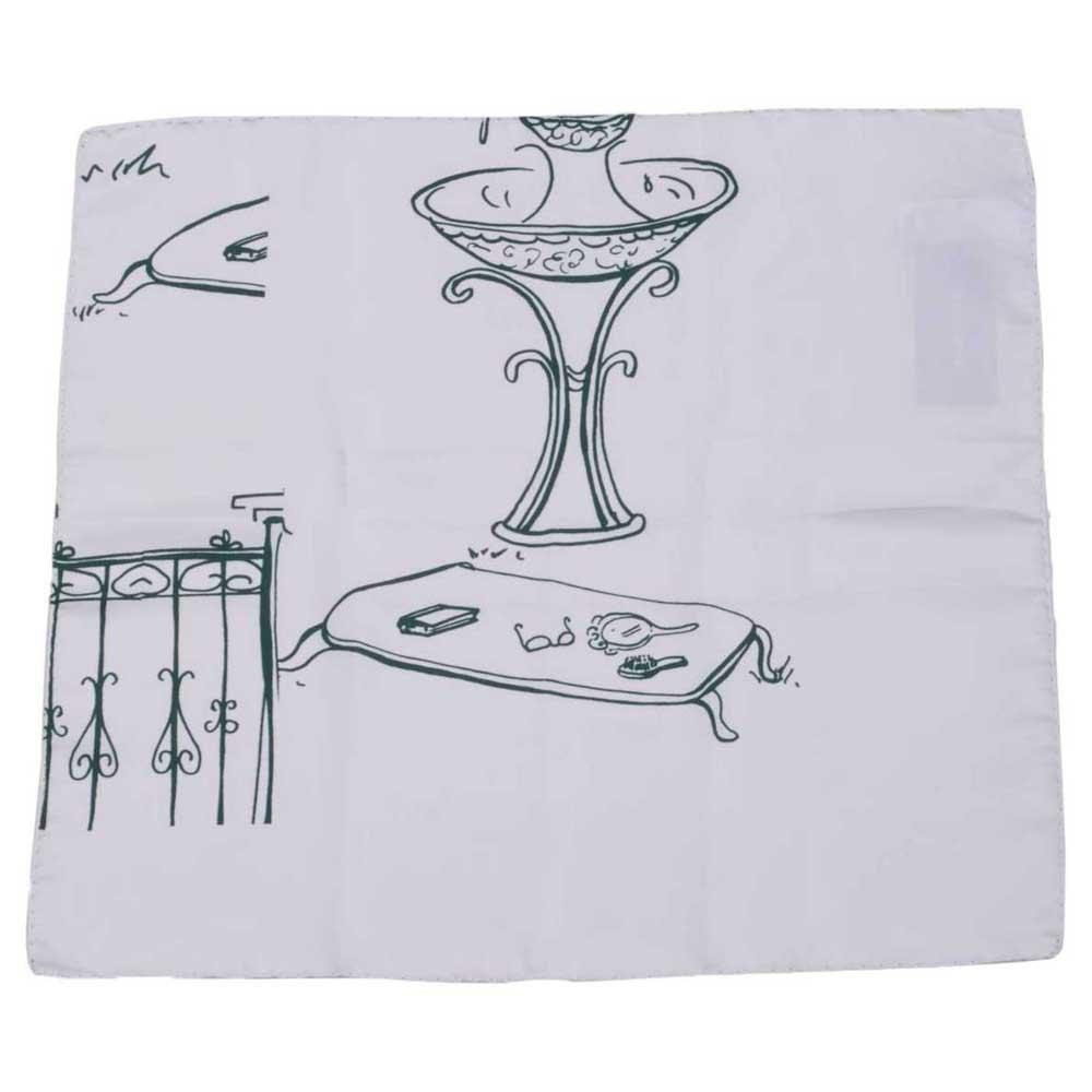 Dolce & Gabbana 723081 Printed Foulard One Size White
