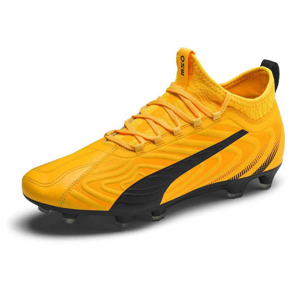 Puma One 20.3 Fg/ag Football Boots EU 41 Ultra Yellow / Puma Black / Orange Alert