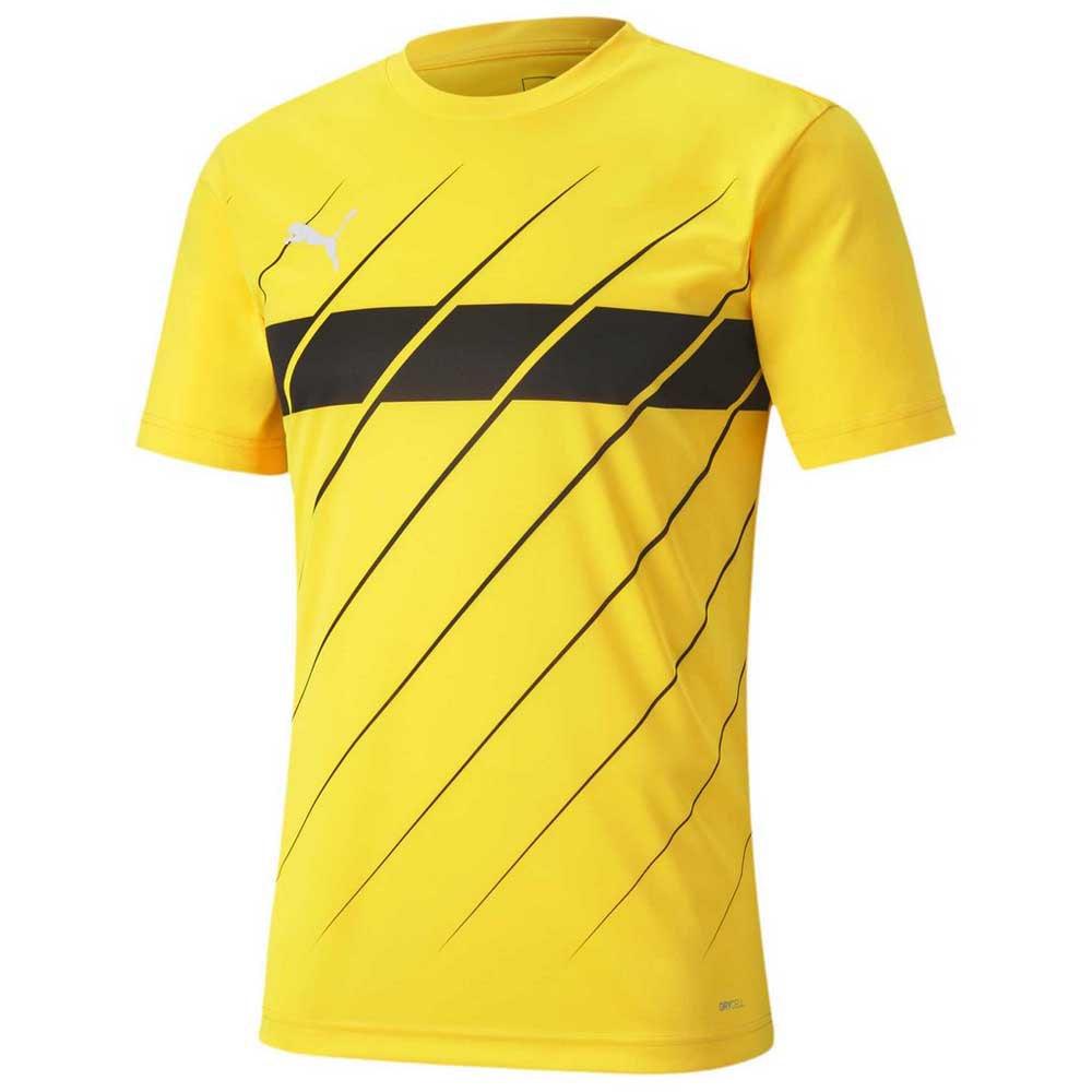 Puma Ftblplay Graphic Short Sleeve T-shirt S Ultra Yellow / Puma Black