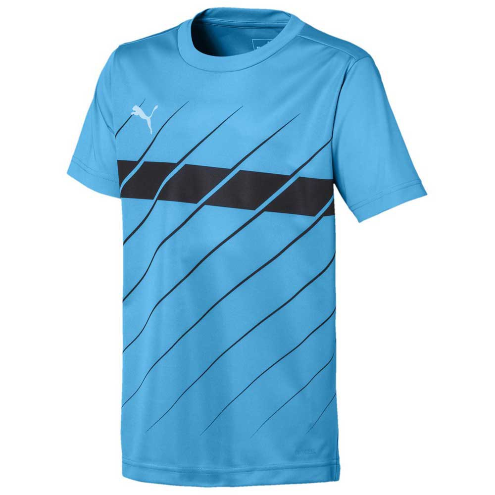 Puma Ftblplay Graphic Short Sleeve T-shirt 164 cm Luminous Blue / Puma Black