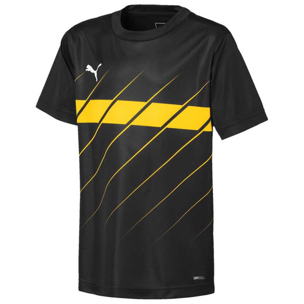 Puma Ftblplay Graphic Short Sleeve T-shirt 164 cm Puma Black / Ultra Yellow