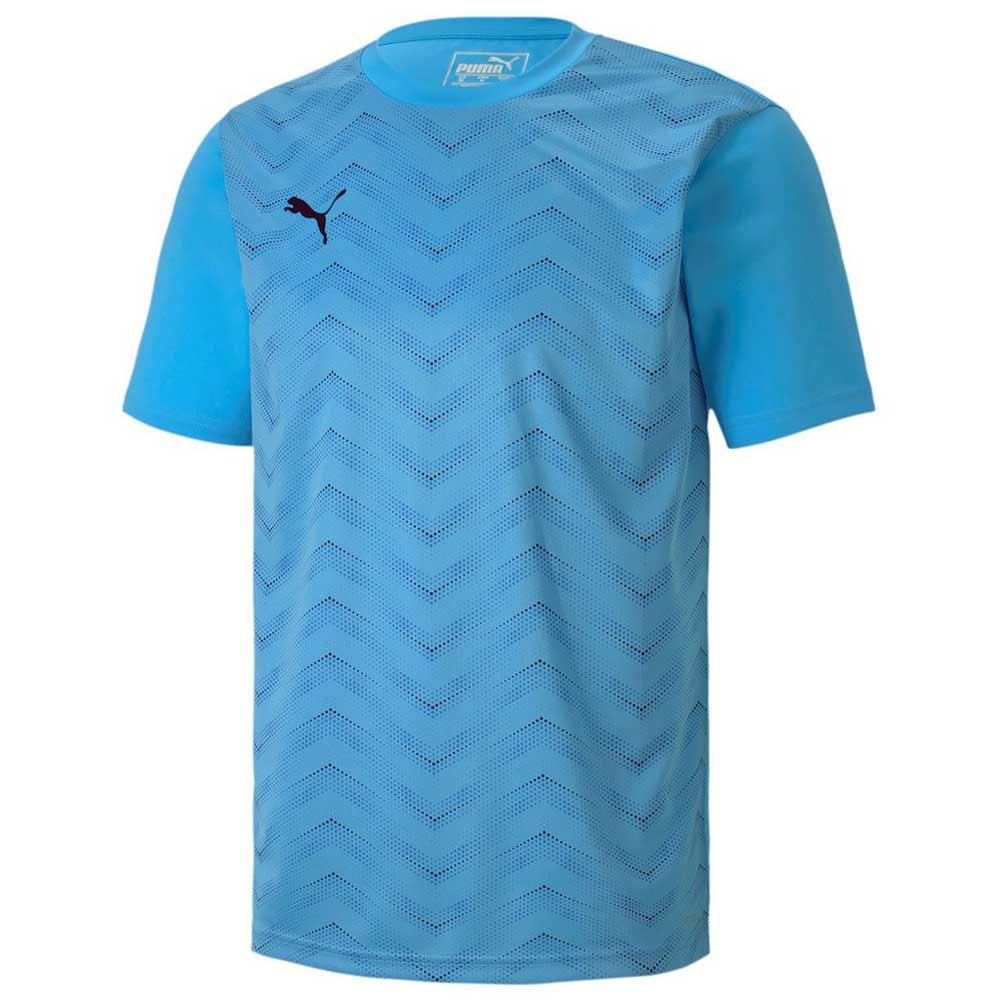 Puma Ftblinxt Graphic Core Short Sleeve T-shirt S Luminous Blue / Puma Black