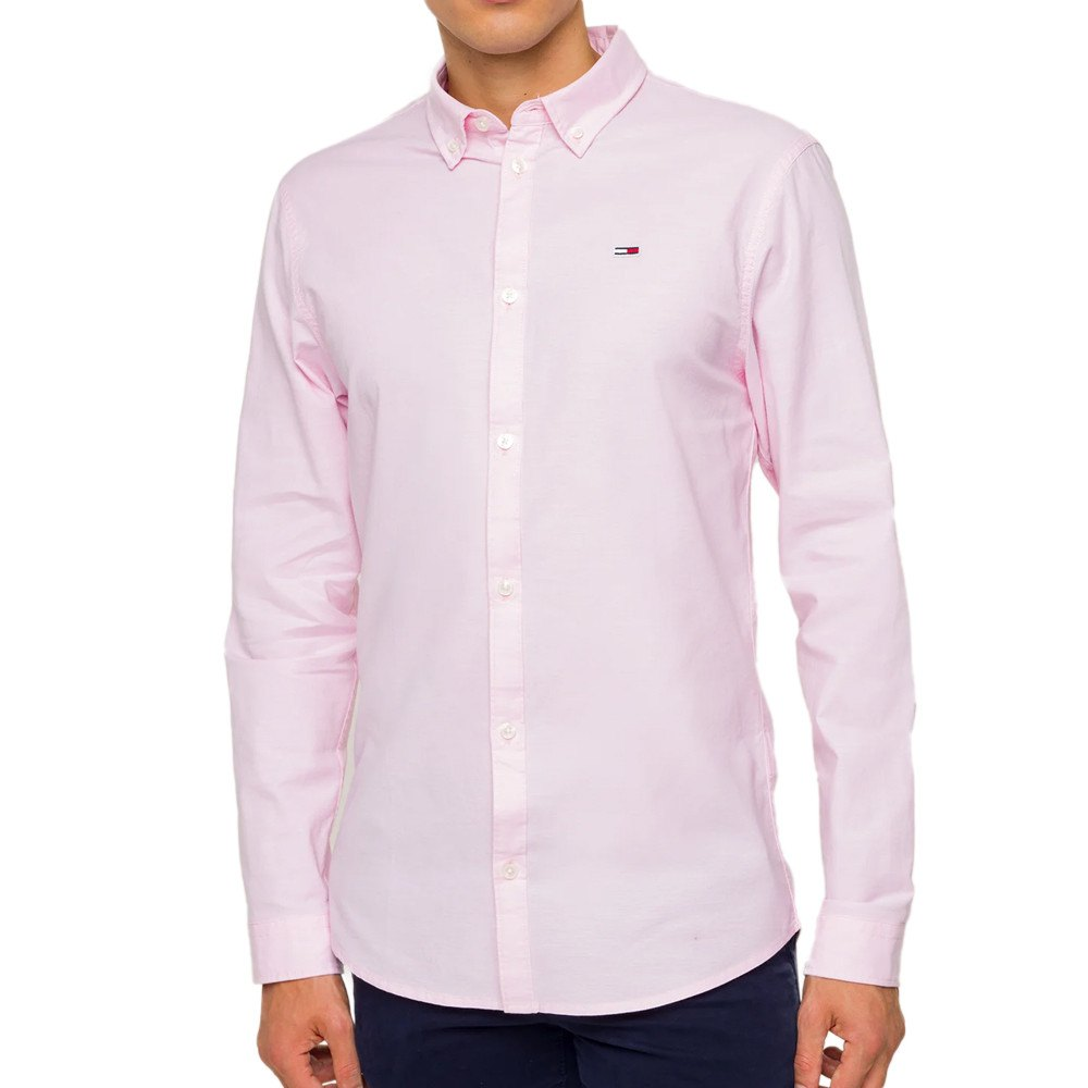 Tommy Jeans Stretch Oxford M Oxford Pink