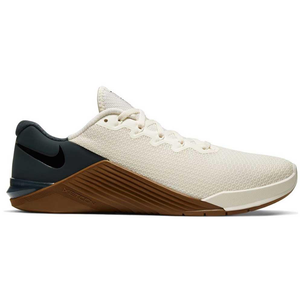 Nike Metcon 5 EU 50 1/2 Pale Ivory / Black / Seaweed / Lt British Tan