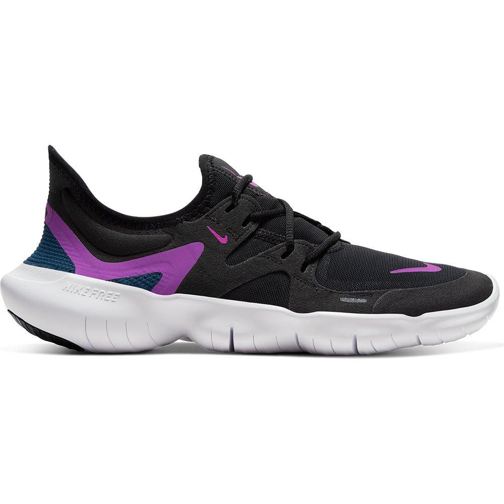 Nike Free Rn 5.0 EU 36 1/2 Black / Vivid Purple / Valerian Blue