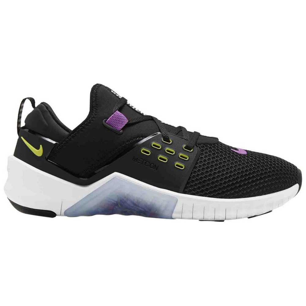 Nike Chaussures Free Metcon 2 EU 44 Black / Bright Cactus / Purple Nebula / White