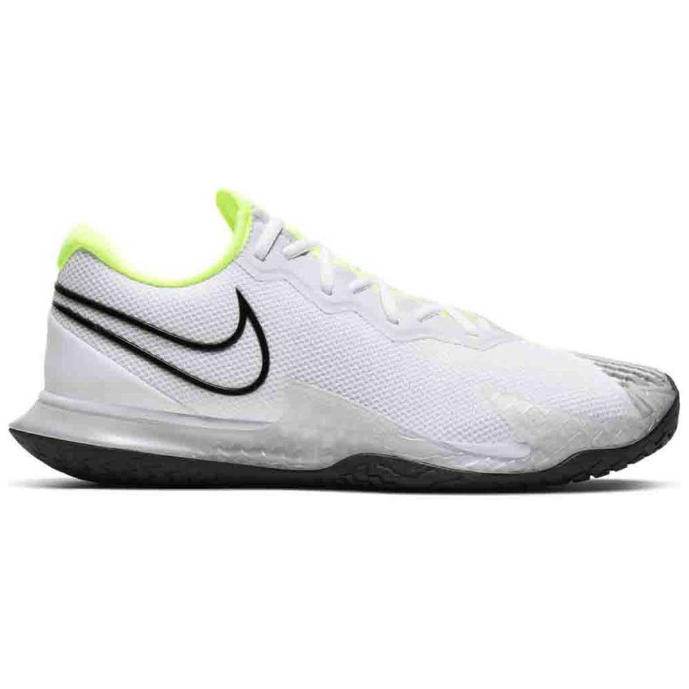Nike Court Air Zoom Vapor Cage 4 Hard Court EU 42 1/2 White / Black / Volt / Pure Platinum