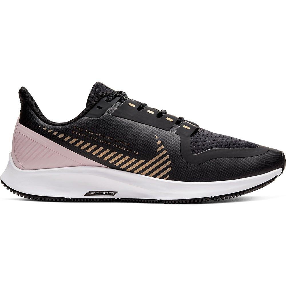 Nike Air Zoom Pegasus 36 Shield EU 36 1/2 Dark Smoke Grey / Metallic Gold / White