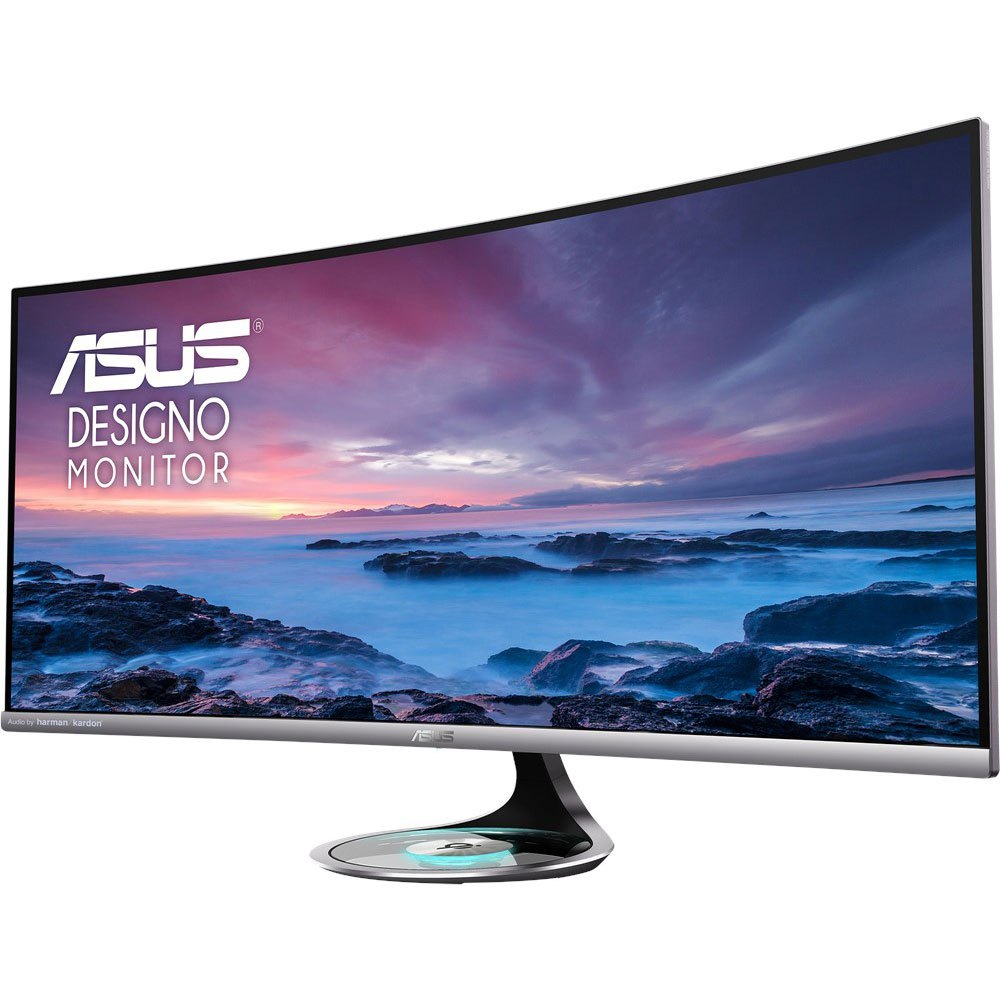 Monitor Asus Designo Mx38vc 37.5'' Uwqhd Wled Curved One Size Silver