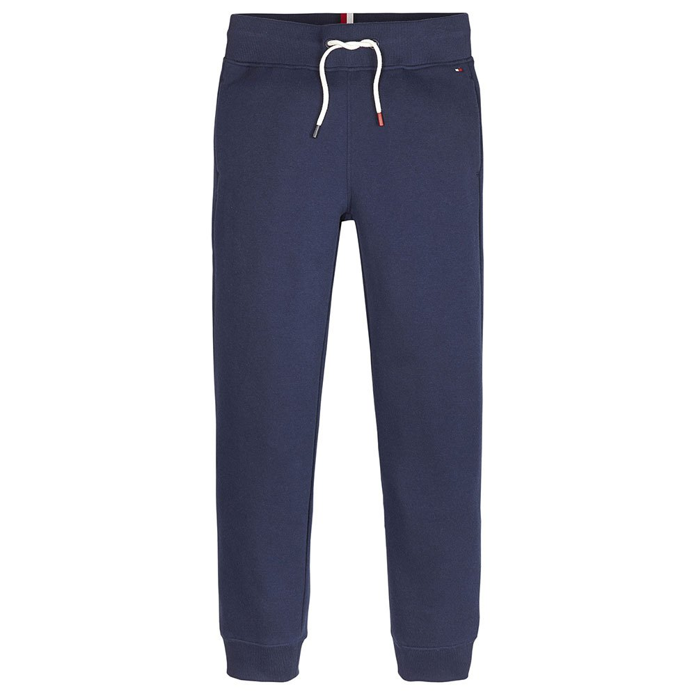Tommy Hilfiger Kids Essential Signature Logo Tapered Joggers 10 Years Black Iris