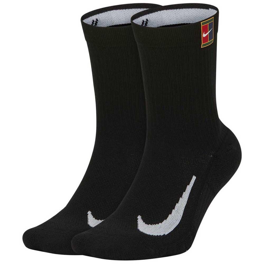 Nike Chaussettes Court Multiplier Crew Cushion 2 Paires EU 38-42 Black / Black
