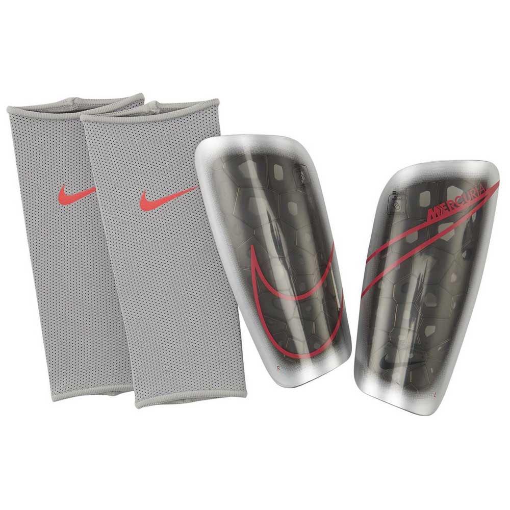 Nike Mercurial Lite S Metallic Silver / Black / Laser Crimson