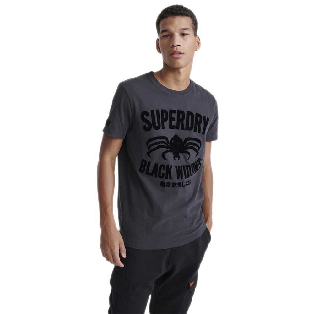 Superdry Merch Store Band M Washed Black