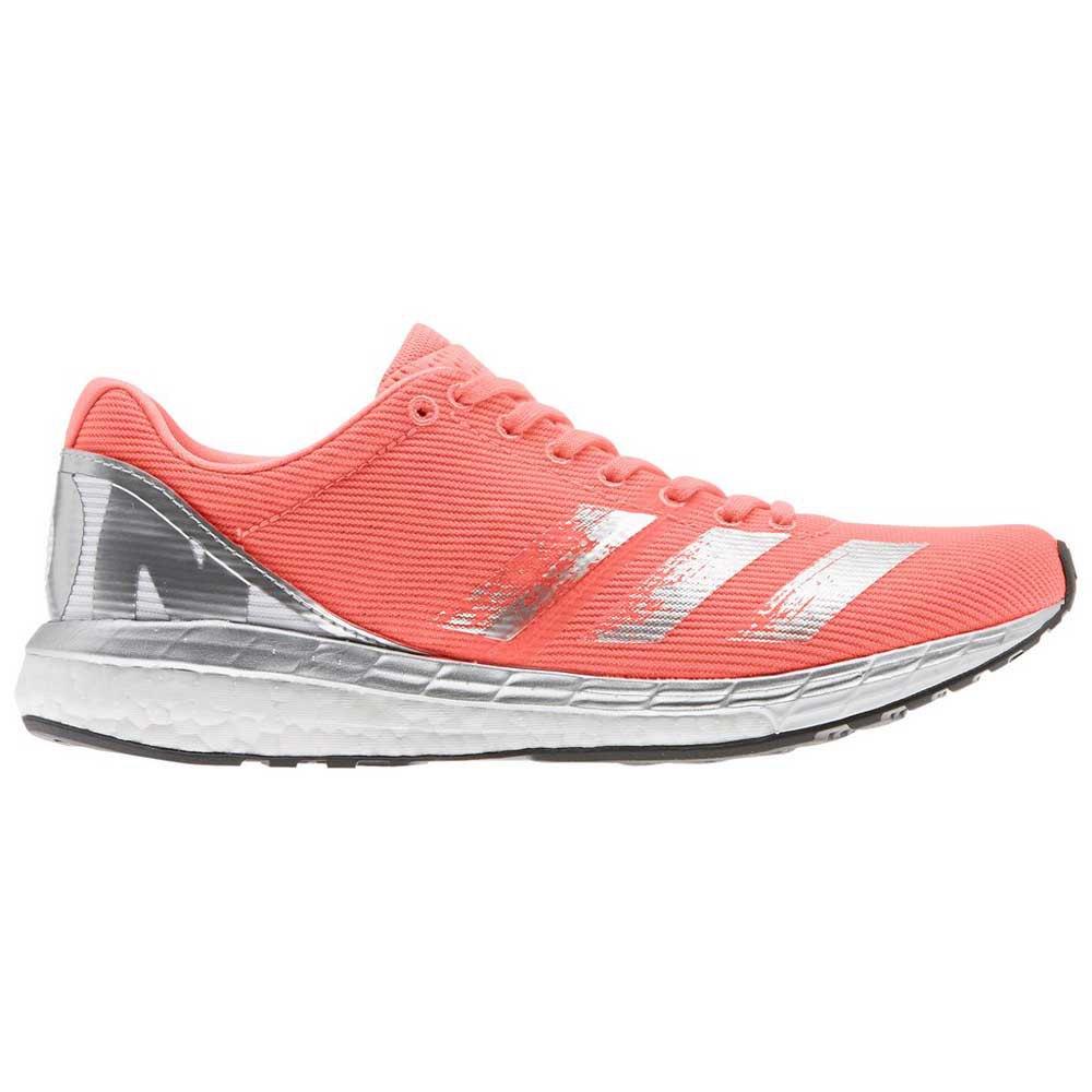 Adidas Adizero Boston 8 EU 38 2/3 Signal Coral / Silver Metal / Footwear White