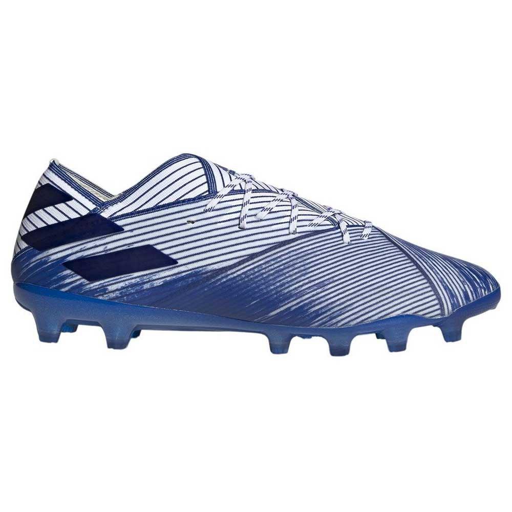 Adidas Nemeziz 19.1 Ag Football Boots EU 41 1/3 Footwear White / Royal Blue