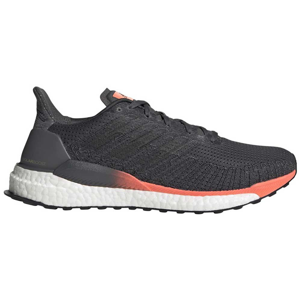 Adidas Solar Boost EU 46 Grey Six / Core Black / Signal Coral