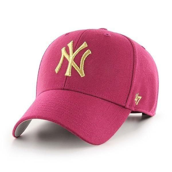 47 Mlb New York Yankees Metallic Mvp One Size Galaxy Red