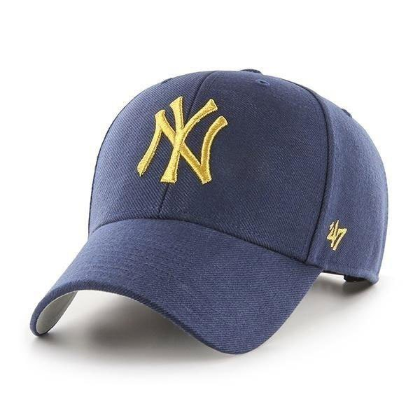 47 Mlb New York Yankees Metallic Mvp One Size Light Navy