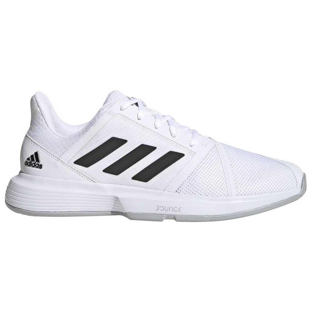 Adidas Courtjam Bounce EU 40 Footwear White / Core Black / Metal Silver