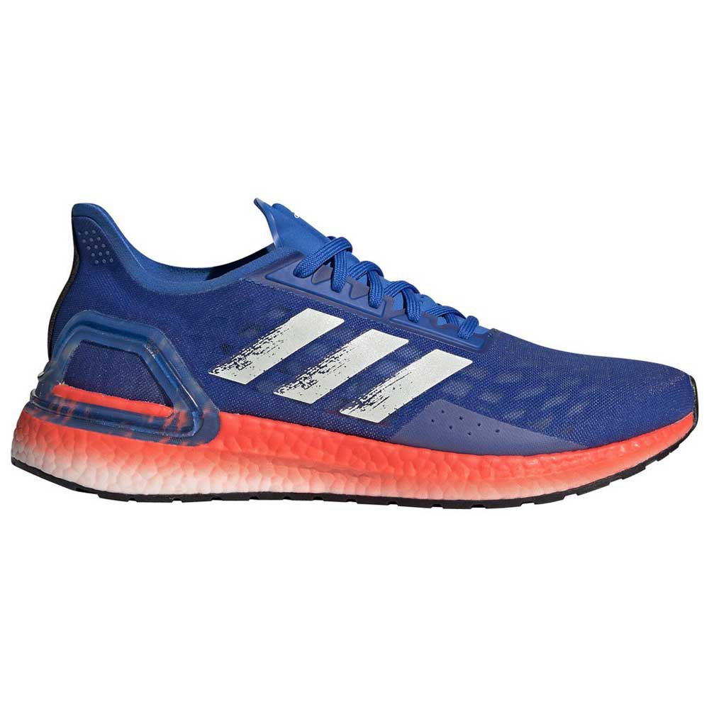 Adidas Ultraboost Pb EU 44 2/3 Glory Blue / Core White / Solar Red