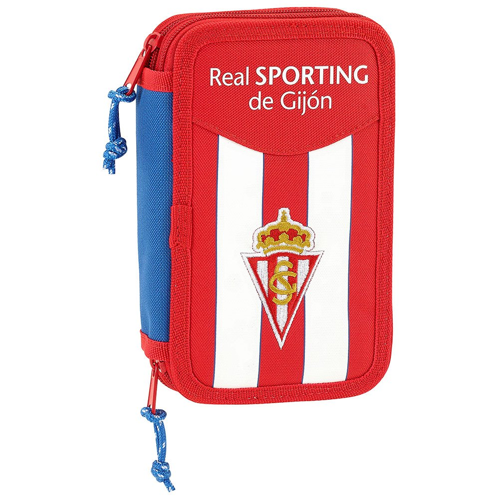 Safta Real Sporting De Gijon Double 28 Units One Size Red / White