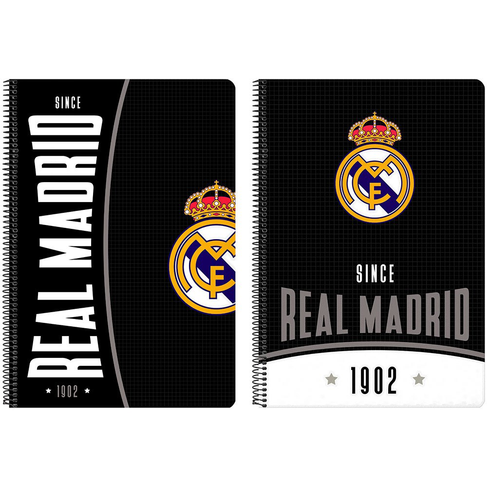 Safta Real Madrid 1902 80 Sheets Hard Cover One Size Black