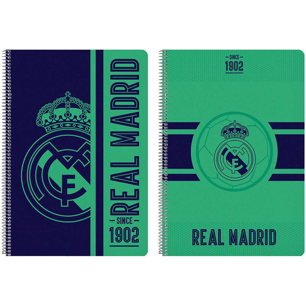 Safta Cahier Real Madrid Troisième 19/20 80 Feuilles One Size Green