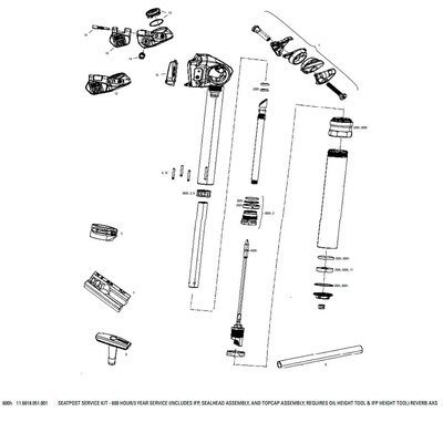 Sillines y tijas 600 Hours Seatpost Service Kit For Reverb Axs